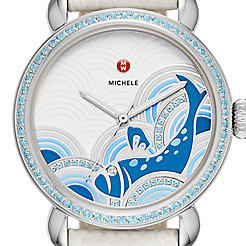 Seaside Topaz, Fish Diamond Dial Limited Watch Edition Of 305