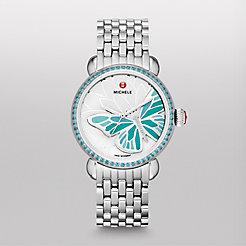 Garden Party Topaz Turquoise, Diamond Butterfly Watch