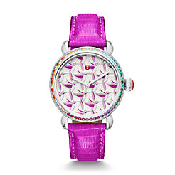 Exotic Creatures Topaz, Hummingbird Diamond Dial Orchid Lizard Watch