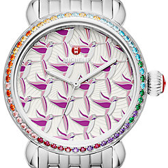 Exotic Creatures Topaz, Hummingbird Diamond Dial Watch