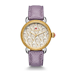 Exotic Creatures Topaz Two-Tone, Grey Lizard Diamond Dial Watch