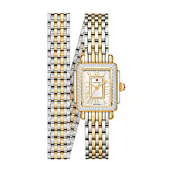 Deco Mini Two-Tone 18k Gold Diamond Watch