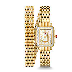 Deco Mini 18k Gold Diamond Watch