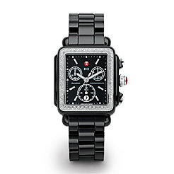 Deco Diamond Black Ceramic Watch