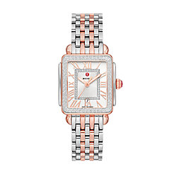 Deco Madison Mid Two-Tone Pink Gold Diamond Watch