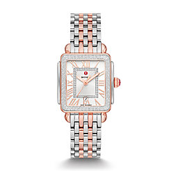 Deco Madison Mid Two-Tone Pink Gold Diamond Watch