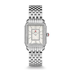 Deco II Mid-size Diamond, Diamond Dial Watch