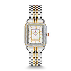Deco II Mid-size Diamond Two-tone, Diamond Dial Watch