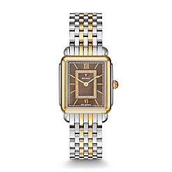 Deco ll Mid Two-Tone, Cocoa Diamond Dial Watch