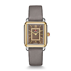 Deco ll Mid Two-Tone, Cocoa Diamond Dial Gray Satin Watch