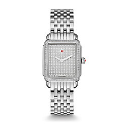 Deco II Mid Pave Diamond, Diamond Dial Watch