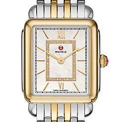 Deco II Mid Two-Tone, Diamond Dial Watch