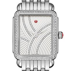 Deco II Mid Uptown Diamond, Diamond Dial Watch