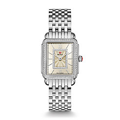 Deco II Mid Stainless-Steel Champagne Diamond Watch