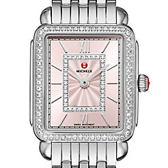 Deco II Mid Stainless-Steel Blush Diamond Watch