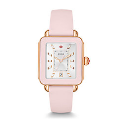 Deco Sport Rose Gold Tone and Blush Silicone Watch