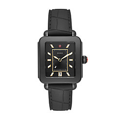 Deco Sport Blackout- Black Embossed Silicone Watch