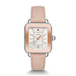 Deco Sport Two-Tone Pink Gold Watch