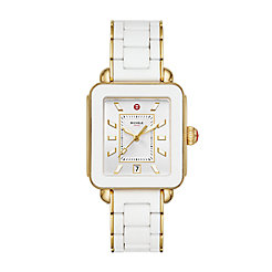 Deco Sport Gold White Wrapped Silicone Watch