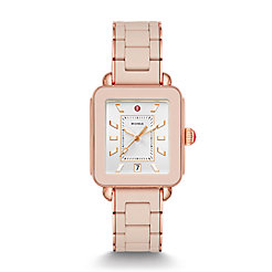 Deco Sport Pink Gold Desert Rose Wrapped Silicone Watch