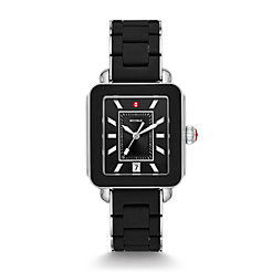 Deco Sport Silver Black Wrapped Silicone Watch