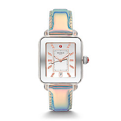 Deco Sport Stainless Topaz Dial Watch