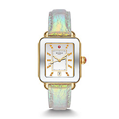 Deco Sport Two-Tone Gold-Tone Topaz Dial Watch