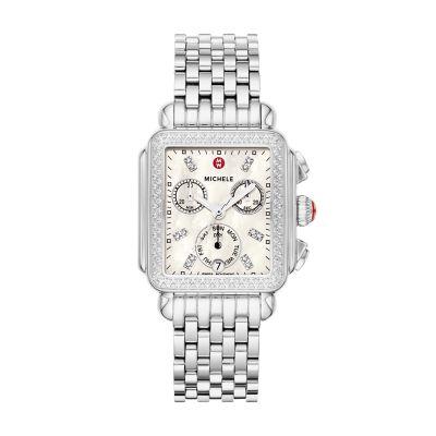 e0946a0faa0363 MICHELE® Watches - Deco Diamond, Diamond Dial Watch