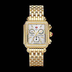 Deco Gold Diamond, Diamond Dial Watch