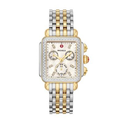 2bf328af02fd MICHELE® Watches - Deco Two-Tone Diamond, Diamond Dial Watch