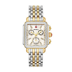 Deco Two-Tone Diamond, Diamond Dial Watch