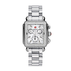 Deco Diamond, Diamond Dial 3-Link Watch