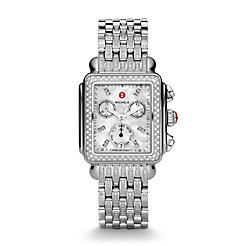 Deco Diamond, Diamond Dial on Diamond Bracelet Watch