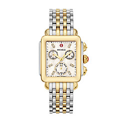 Signature Deco Non-Diamond Two-Tone, Diamond Dial Two Tone Watch