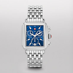 Deco, Blue Diamond Dial Watch