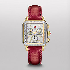 Signature Deco Diamond Two-Tone, Diamond Dial Red Snake Watch