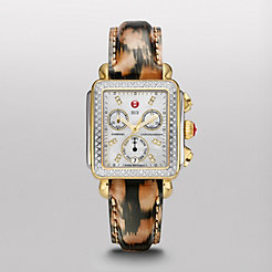 Signautre Deco Diamond Two-Tone, Diamond Dial Urban Cheetah Patent Watch