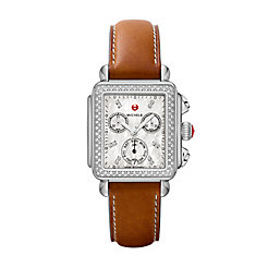Deco Diamond, Diamond Dial Saddle Strap Watch