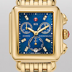 Deco Gold, Blue Diamond Dial Watch