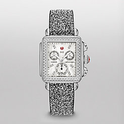 Signature Deco Diamond, Diamond Dial on Black with Silver Crystal