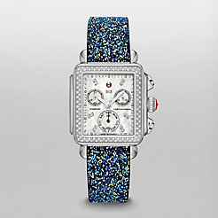 Signature Deco Diamond, Diamond Dial on Blue Nights Crystal