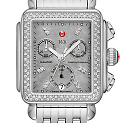 Deco Diamond, Grey Diamond Dial Watch
