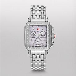 Deco Diamond, Lavender Diamond Dial Watch