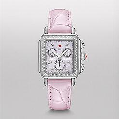 Deco Diamond, Lavender Diamond Dial Pastel Purple Alligator Watch