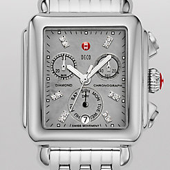 Deco, Grey Diamond Dial Watch
