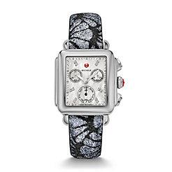 Signature Deco Diamond Dial Grey-Black Glitter Watch