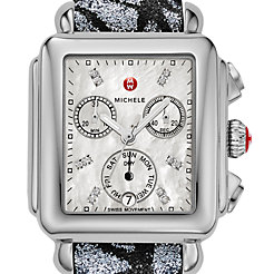 Signature Deco Diamond Dial Grey-Black Glitter Watch