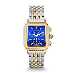 Deco Two-Tone, Non-Diamond, Cobalt Diamond Dial Watch