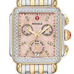 Signature Deco Two-Tone Diamond Watch
