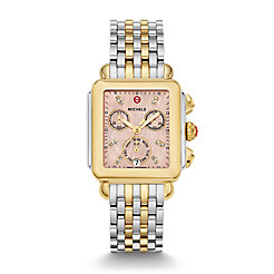 Signature Deco Two-Tone Diamond Dial Watch